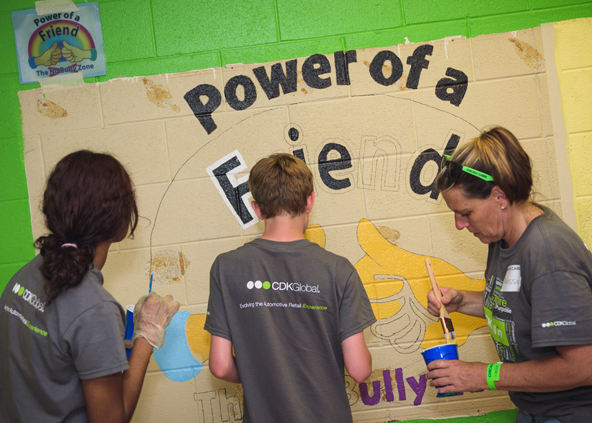 Volunteering at Beasley Elementary with Chicago Cares and CDK Global - Event photography by Michael Courier