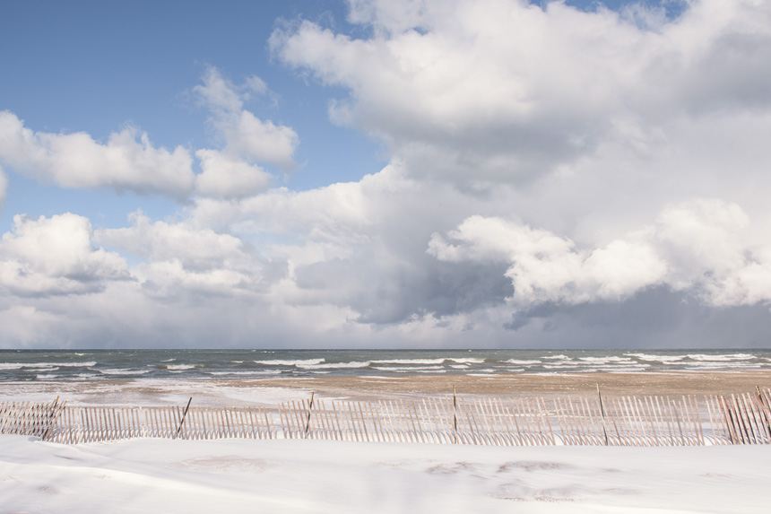 The End of Winter at Foster Beach in Edgewater, Chicago - Landscape Photography by Michael Courier