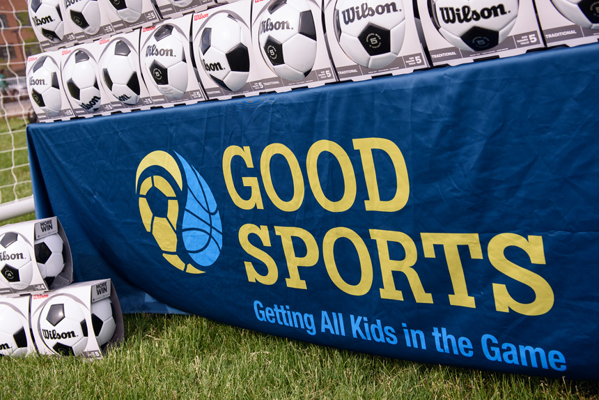 Good Sports donated soccer equipment to Chicago Public Schools on Saturday, June 3rd, 2017 at Hanson Stadium in Chicago