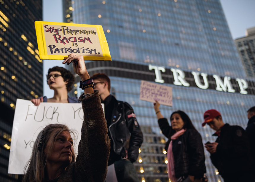 Chicago Trump Election Protest on November 9th, 2016 - Photography by Michael Courier