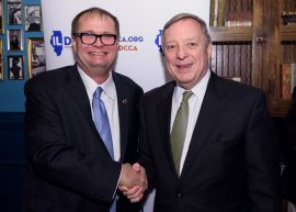 The Illinois Democratic County Chairman's Association hosted a fundraising event in Chicago on March 16, 2017 at the Hubbard Inn - Featuring Doug House and US Senator from Illinois Dick Durbin - Event Photography by Michael Courier
