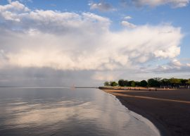 Edgewater skies from Foster Beach - Landscape Photography by Michael Courier