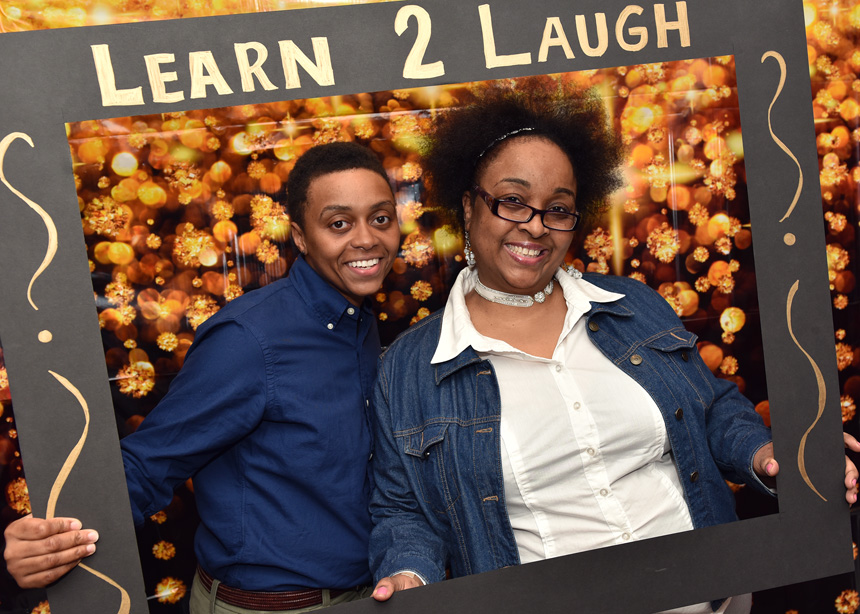 MacCormac College Learn 2 Laugh Fundraiser at the Laugh Factory - Event Photography by Michael Courier